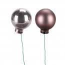 Foil diamètre de la boule 25mm, 144 pièces, gris m